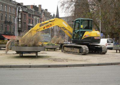 Pelle excavatrice en location à Liège